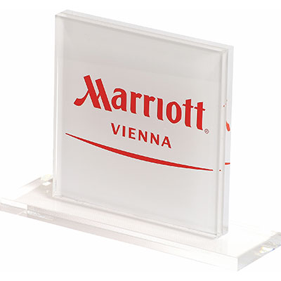 Logoaufsteller Marriot