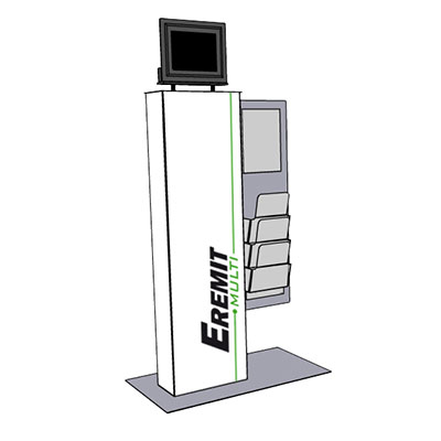 Eremit Multimedia Display Multi mit Prospektaufsatz