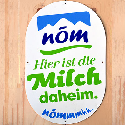 Eremit Display Schild-Plakette für NÖM